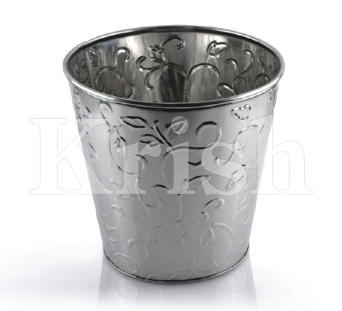 Wine Bucket With Flower Embossing