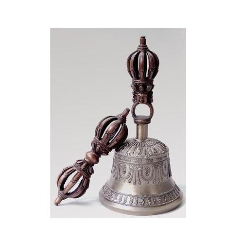 Deradhun Nyingma Bell & Dorje Set - Kirtimukha Design - Antique Style