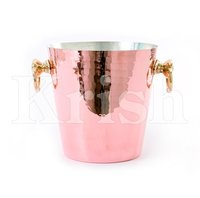 Hammered Wine Bucket - Copper Plated
