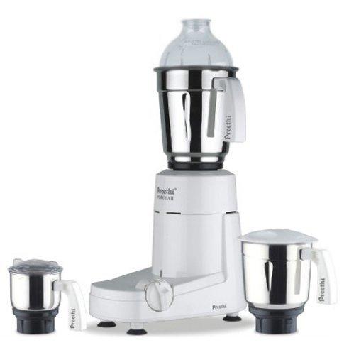 Preethi Popular MG 142 750-Watt Mixer Grinder with 3 Jars (White)