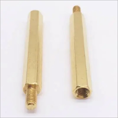 Male Thread Brass Hex Standoff Rod