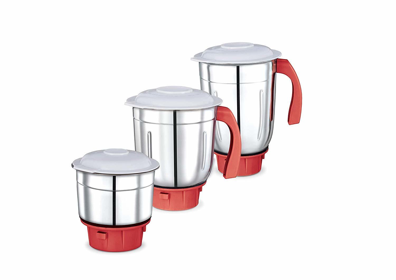 Prestige Perfect 750-watts Mixer Grinder with 3 Jars(White)