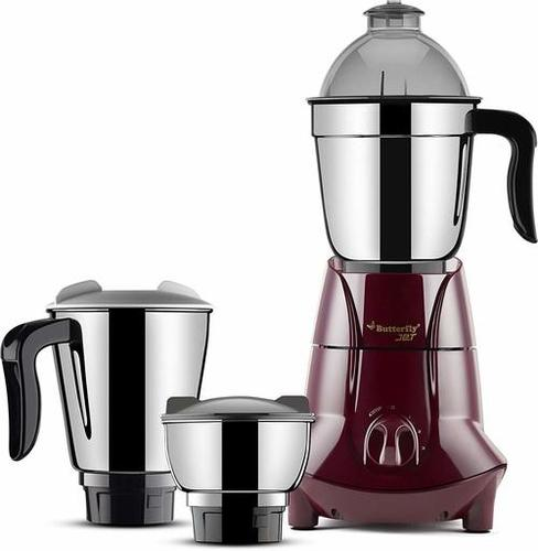 Butterfly Jet 750-Watt Mixer Grinder with 3 Jars (Cherry)
