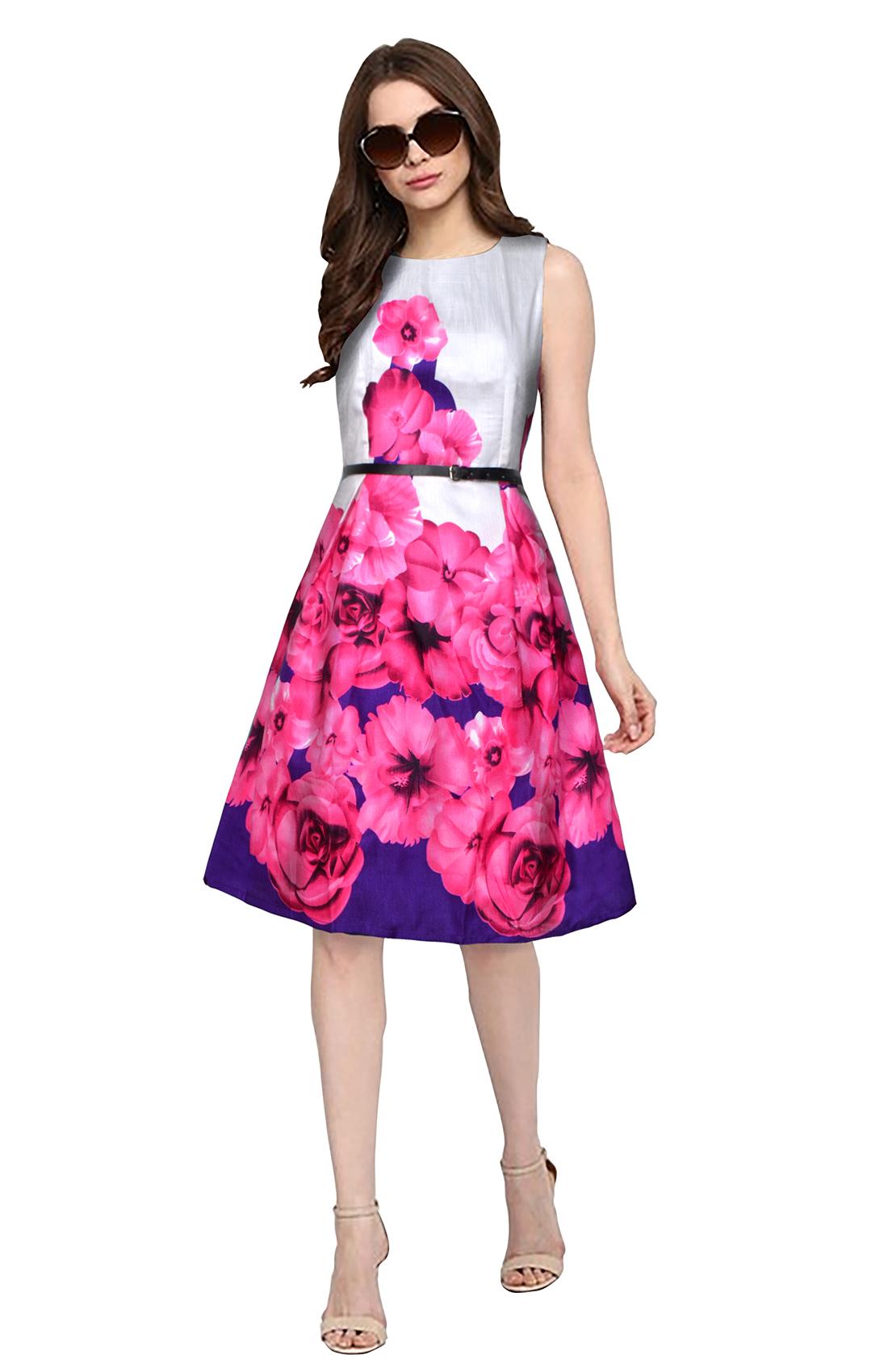 Ladies Eliza Blue Dress