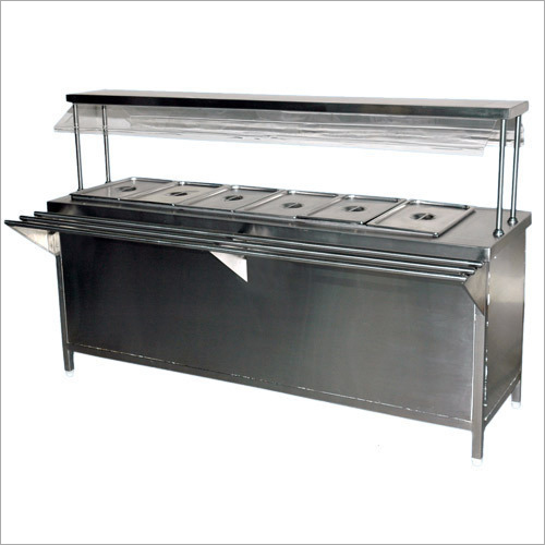 Stainless Steel Bain Marie Service Counter