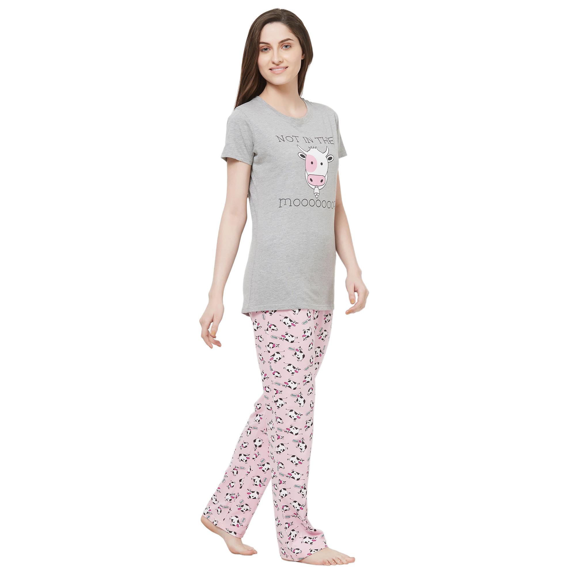 Evolove Womens Pajama T-Shirt Sets (EVO1)