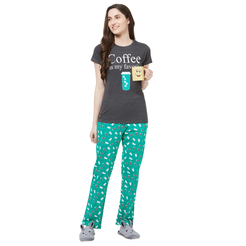 Evolove Womens Pajama T Shirt Sets (EVO24)