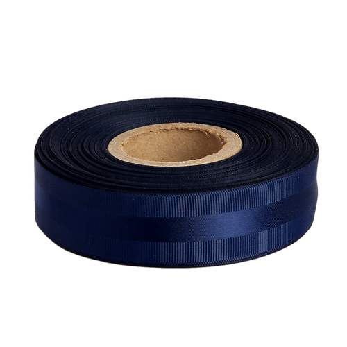 Gross Grain Satin - Navy Blue