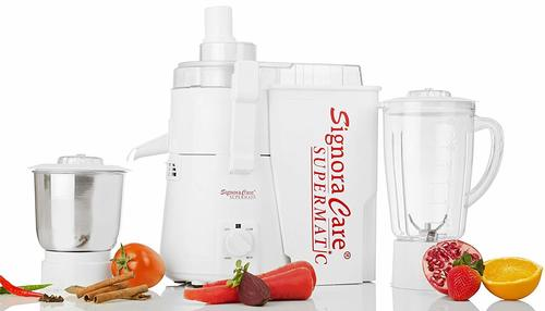 Signora Care Supermatic 2 Jar Juicer Mixer Grinder -White 900 Watts