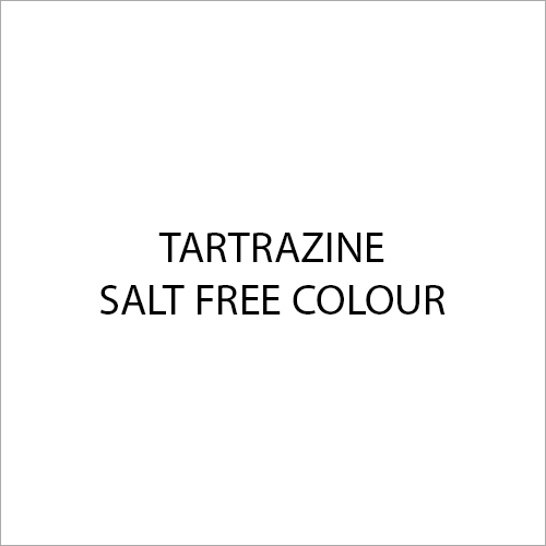 Tartrazine Salt Free Colour