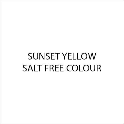 Sunset Yellow Salt Free Colour