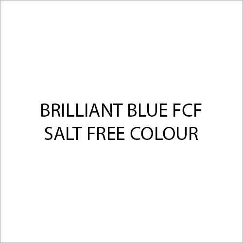 Brilliant Blue FCF Salt Free Colour