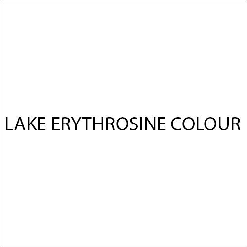 Lake Erythrosine Colour