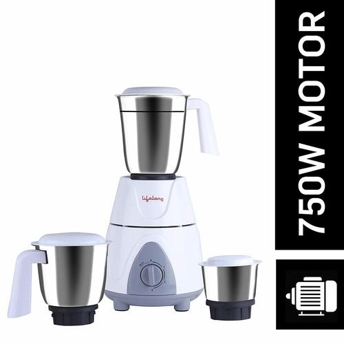 Lifelong Power Pro Plus LLMG03 750-Watt Mixer Grinder with 3 Jars (White/Grey)
