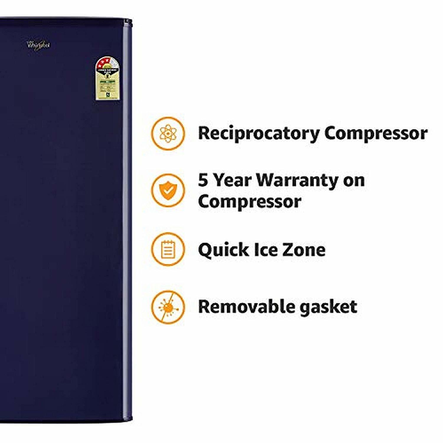 Whirlpool 190 L 3 Star ( 2019 ) Direct Cool Single Door Refrigerator(WDE 205 CLS 3S BLUE-E, Blue)