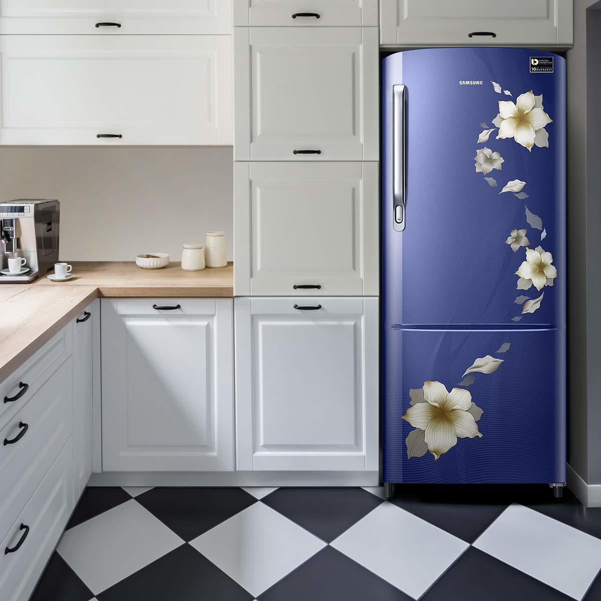 Samsung 192 L 3 Star ( 2019 ) Inverter Direct Cool Single Door Refrigerator (RR20M172ZU2/HL/RR20M272ZU2/NL, Star ( 2019 ) flower blue)
