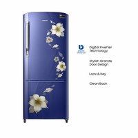 Samsung 192 L 3 Star ( 2019 ) Inverter Direct Cool Single Door Refrigerator (RR20M172ZU2/HL/RR20M272ZU2/NL, Star ( 2019 ) flower blue)