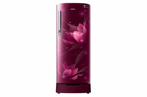 Samsung 192 L 4 Star Inverter Direct-Cool Single Door Refrigerator (RR20T182XR8/HL, Saffron Red)