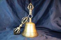 Tibetan bell 7 inch Vajra Ghanta Dorje Drilbu