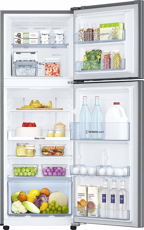 Samsung 253 L 4 Star ( 2019 ) Frost Free Double Door Refrigerator(RT28M3424S8/HL, Elegant Inox, Inverter Compressor)