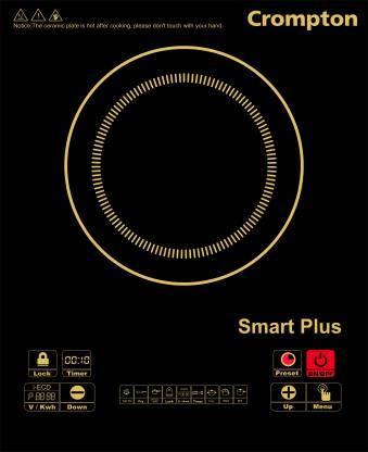Crompton ACGIC Smart Plus Induction Cooktop  (Black, Push Button)