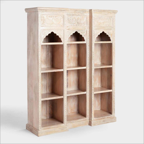 Carved Wood Bookcase