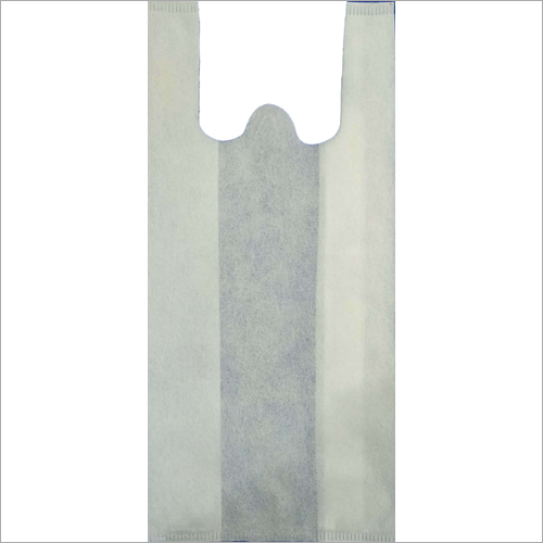 White W Cut Non Woven Bag