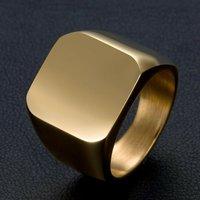 Artificial Men's Gold Punk Ring