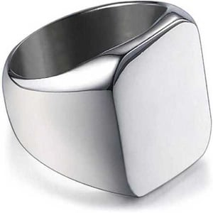 Artificial Silver Punk Ring