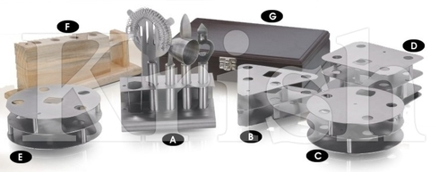 Bar Tool Set in Different Stands - 7 Pcs