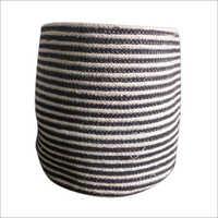 Round Braided Cotton Basket