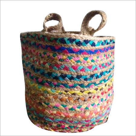Multicolor Cotton Chindi Jute Bag