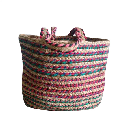 Hand Braided Cotton Chindi Jute Bag