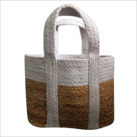 Designer Braided  Cotton / Jute Hand Bag