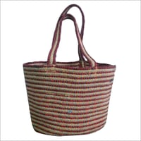 Braided  Cotton/ Jute Tote Bag
