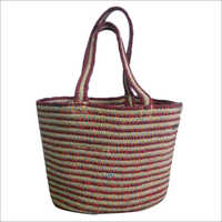 Braided  Cotton/ Jute Tote Bag