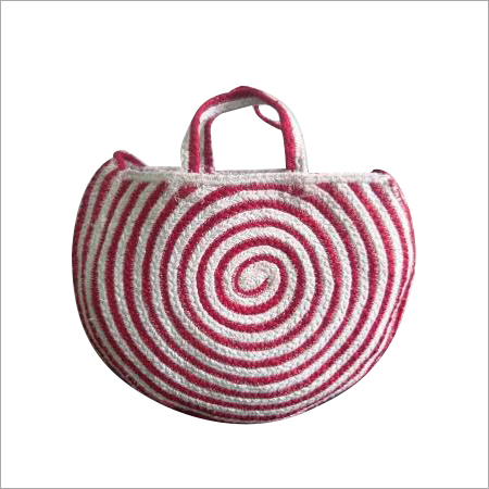 Designer Braided  Cotton/ Jute Tote Bag