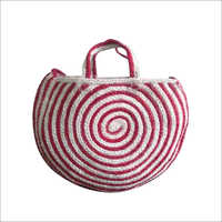 Designer Braided  Cotton/ Jute Tote Bag