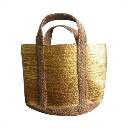 Foil Printed Jute Shopping Bag