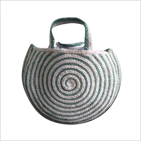 Designer Braided  Cotton/Jute Hand Bag