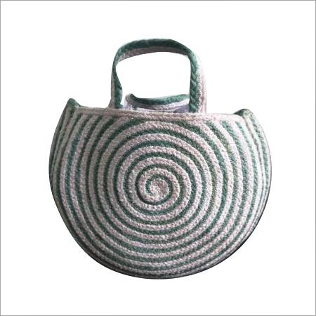 Designer Braided  Cotton/Jute Hand Bag