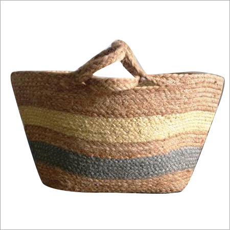 Printed Braided Shopping Jute Bag