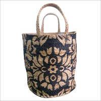 Designer Printed Braided Jute Bag