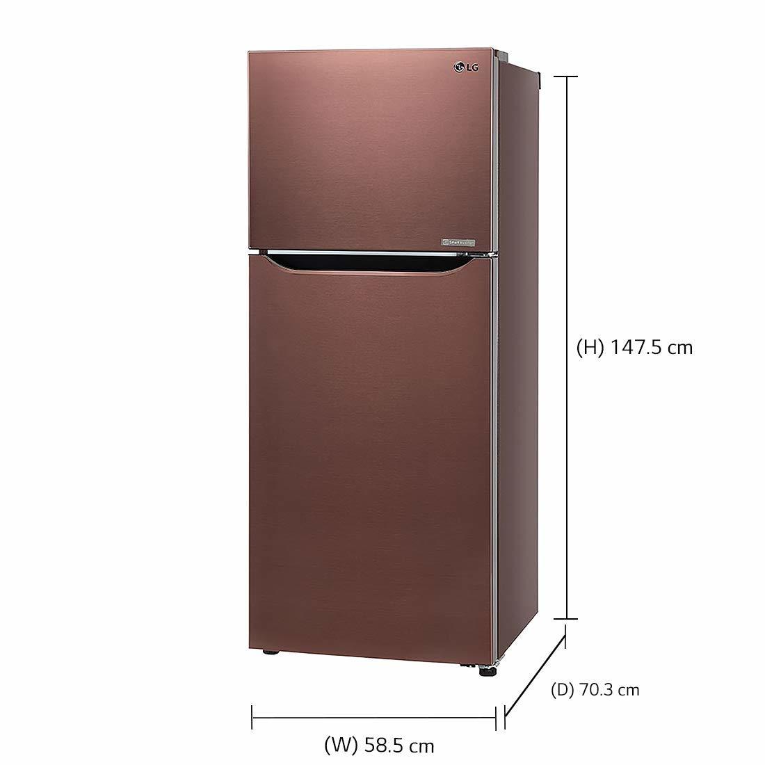LG 260 L 4 Star ( 2019 ) Frost-Free Frost-Free Double-Door Refrigerator (GL-C292SASX, Amber Steel)