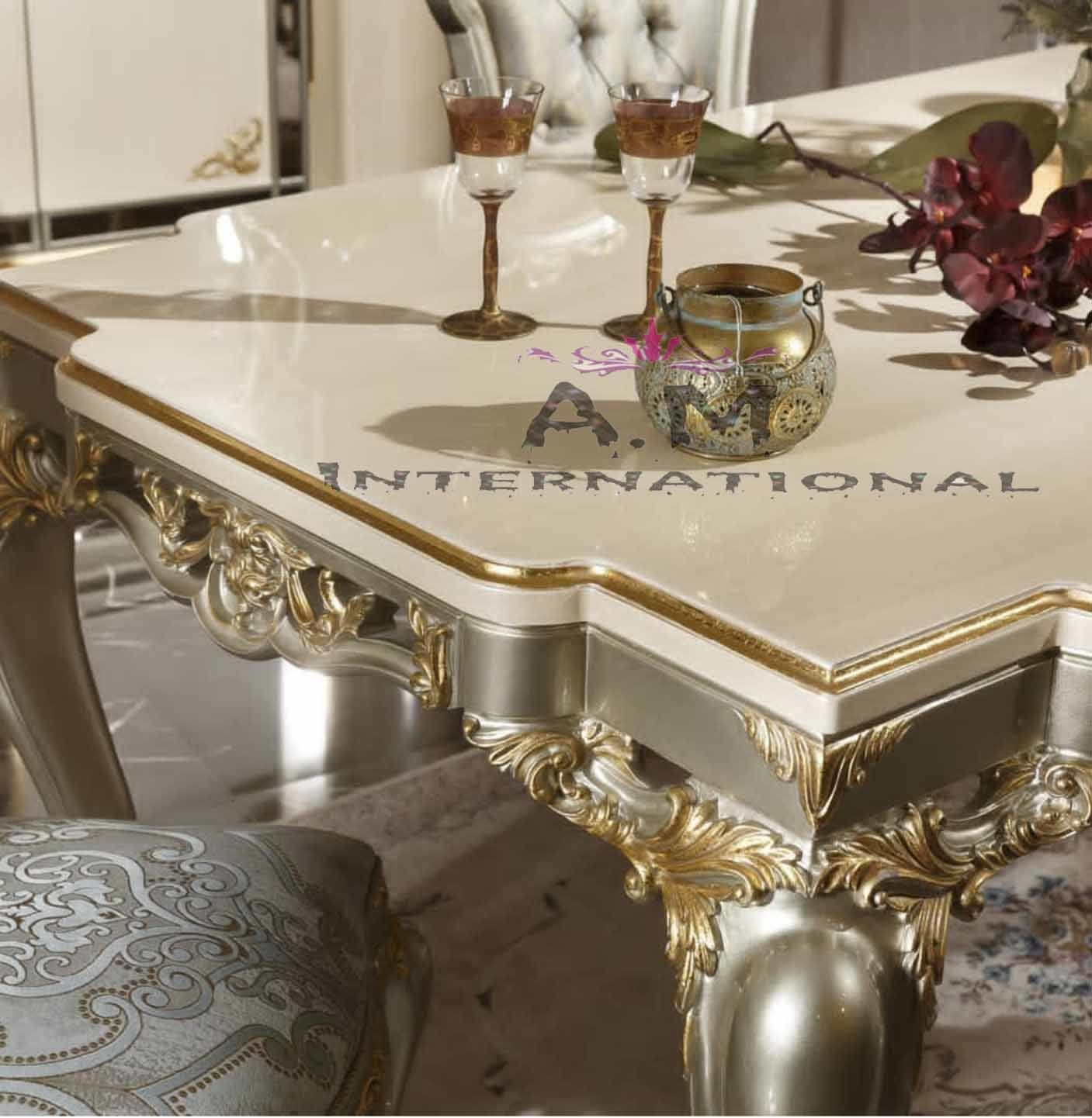 luxurious dining table set