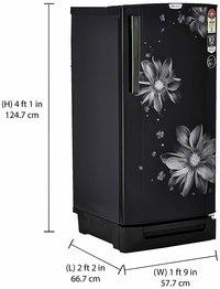 Godrej 190 L 5 Star (2019) Inverter Direct-Cool Single Door Refrigerator (RD EPRO 205 TDI 5.2 PRL BLK, Pearl Black, Base Stand with Drawer, Inverter Compressor)
