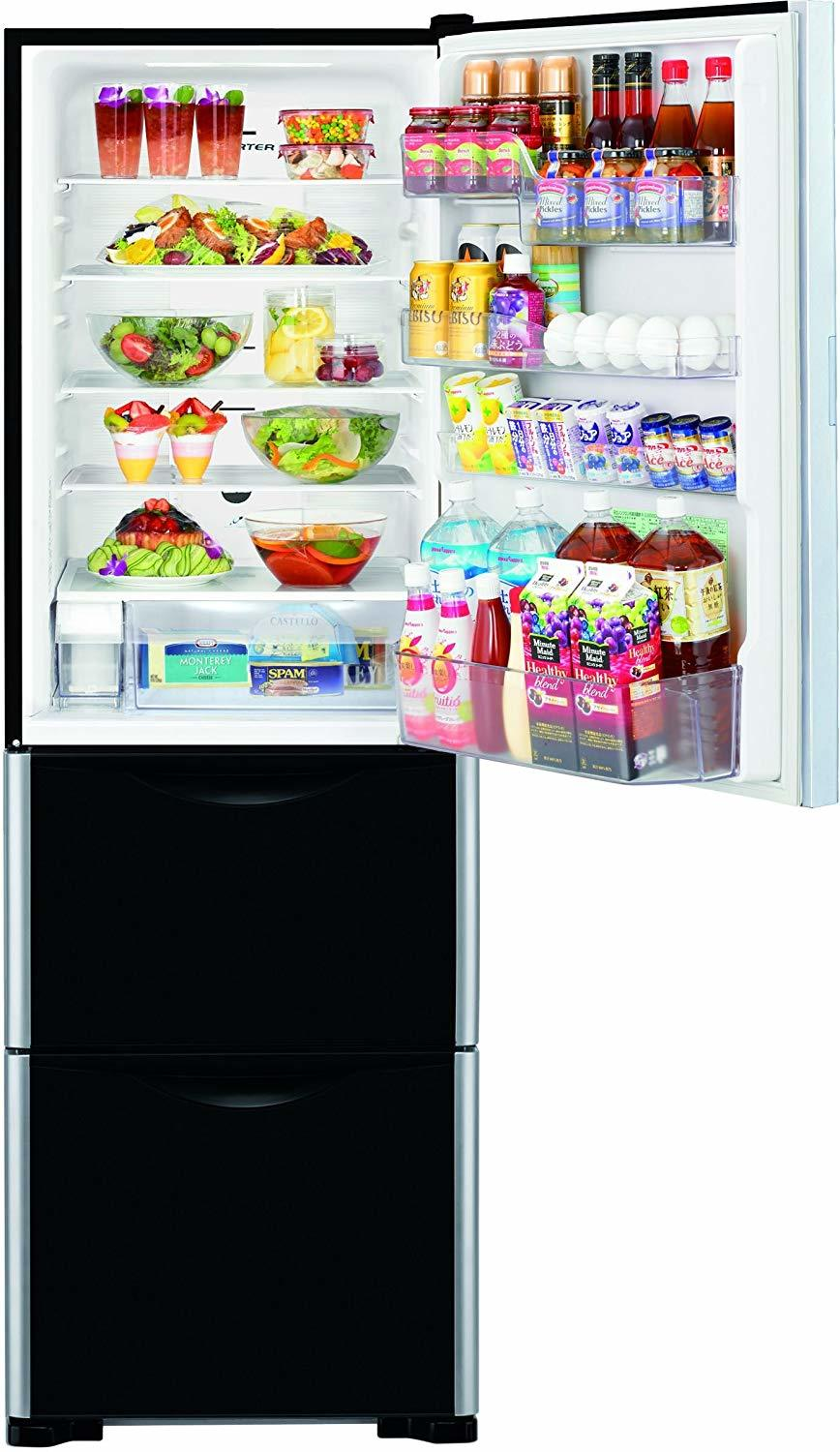 Hitachi 404 L Frost Free Multi-Door Refrigerator(R-SG38FPND, Glass Black, Inverter Compressor)