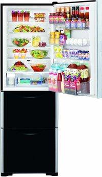 Hitachi 404 L Frost Free Multi-Door Refrigerator(R-SG38FPND, Glass Black, Inverter Compressor)