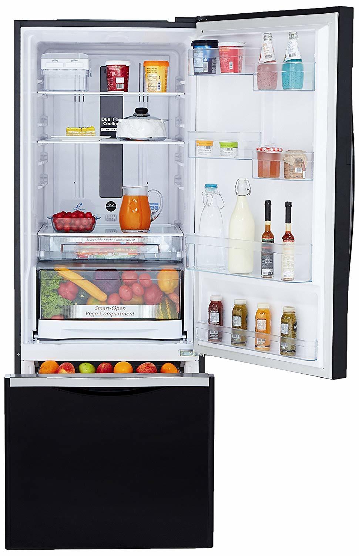 Hitachi 466 L 3 Star ( 2019 ) Rating Frost Free Standard Double Door Refrigerator (R-B500PND6 - GBK, Glass Black, Inverter Compressor)