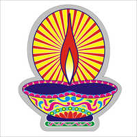 Paper Diya Sticker